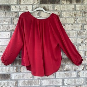 Loft red blouse size XL